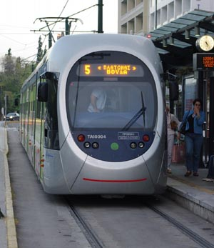 Афинский трамвай