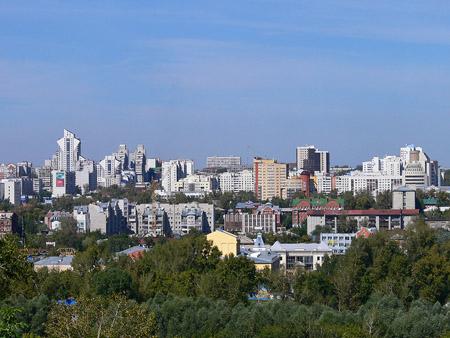 Центральная часть города. Вид с Нагорного парка